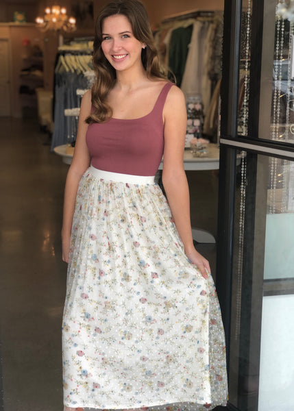 May Flowers Vintage Inspired Skirt