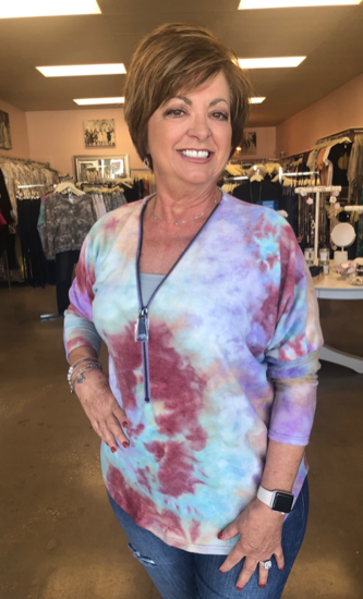 Best Selling Zipper Top In Tie Dye!