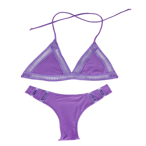 Halter Triangle Bikini Set