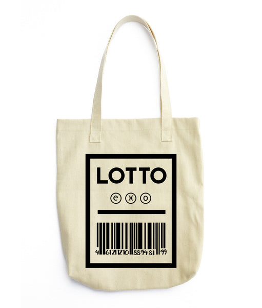 EXO- LOTTO TICKET Tote bag TSHIRT [product_color]- THINKMERMAID