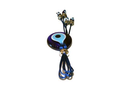 Evil Eye Glass & Silver Pendant