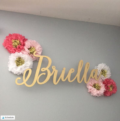 Customer photos of our baby name signs