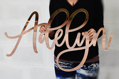 Rose Gold Baby Name Signs!