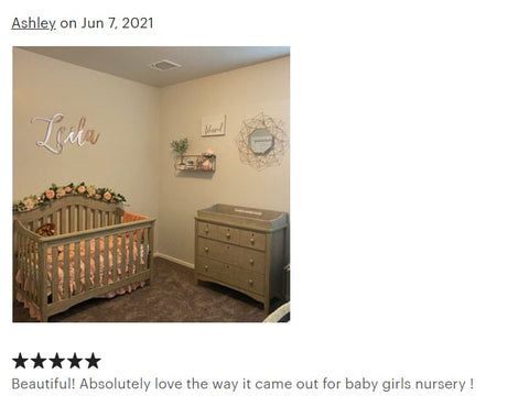 luxury mirror baby name sign shop