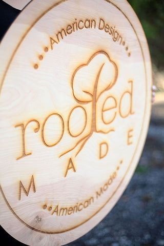 engraved wood business sign