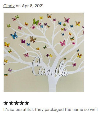 silver baby name sign shop review