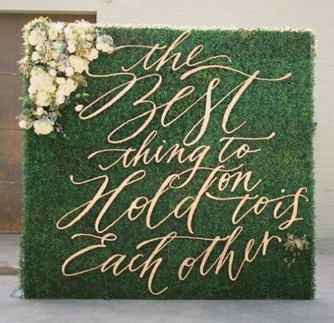 Hedge_Wall_Sign_for_Wedding