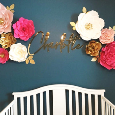 Modern Mirror Baby Name Sign - thebestcaketoppers