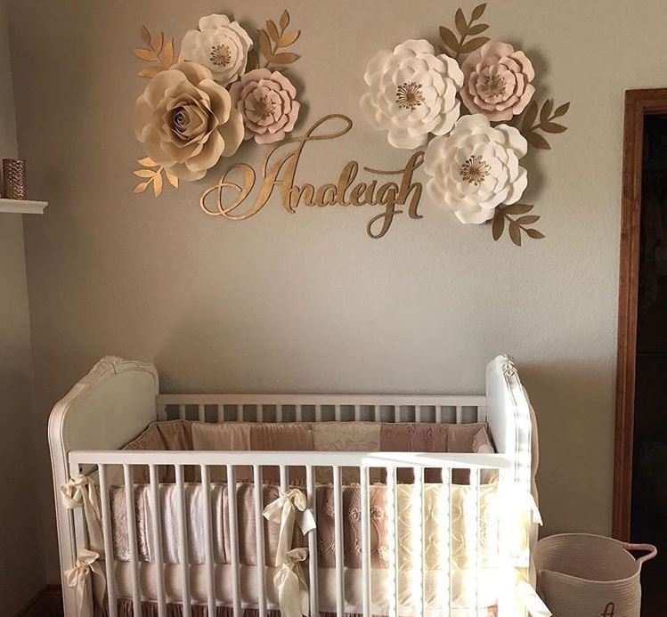 Delightful Newborn Baby Room Decorating Ideas: Nursery Room Decor Name Sign