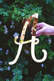 Mirrored Monogram wall Letters in Calligraphy Style - thebestcaketoppers