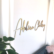 Mirrored Business Logo Sign - thebestcaketoppers