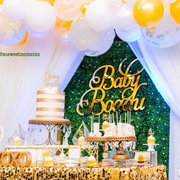 Mirrored Name Wall Sign in Custom Font - thebestcaketoppers