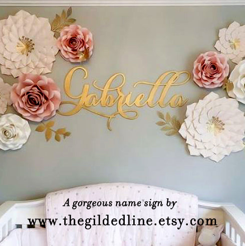 Nursery Room Decor Name Sign - thebestcaketoppers