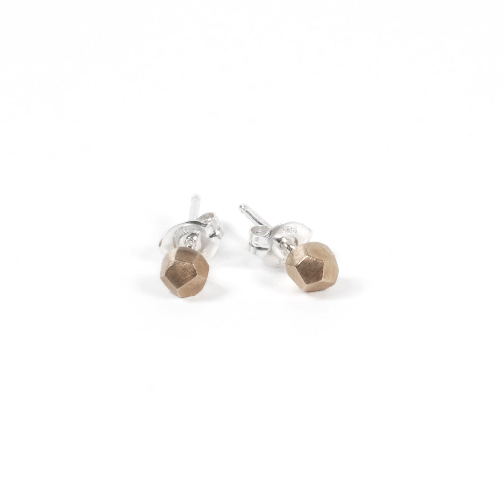 Geometric Brass Ball Studs