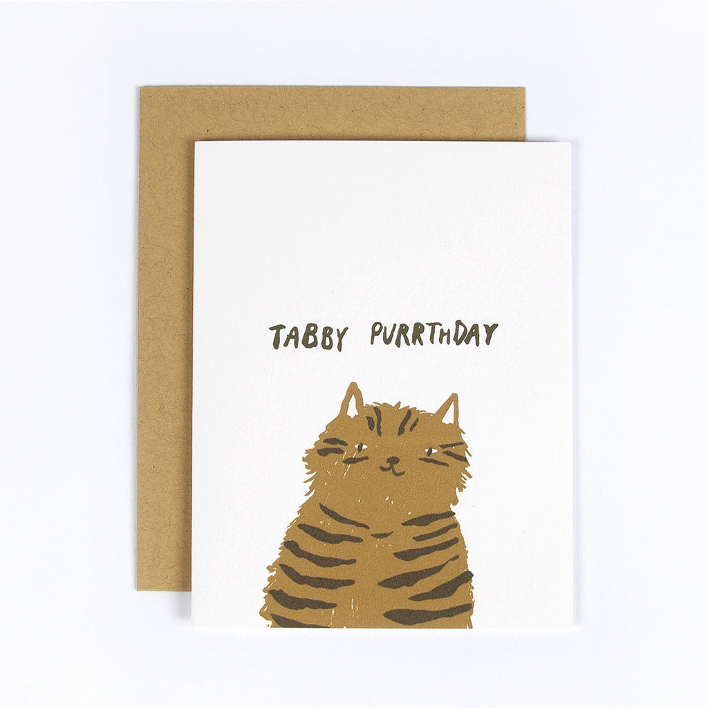 Tabby Purrthday Greeting Card