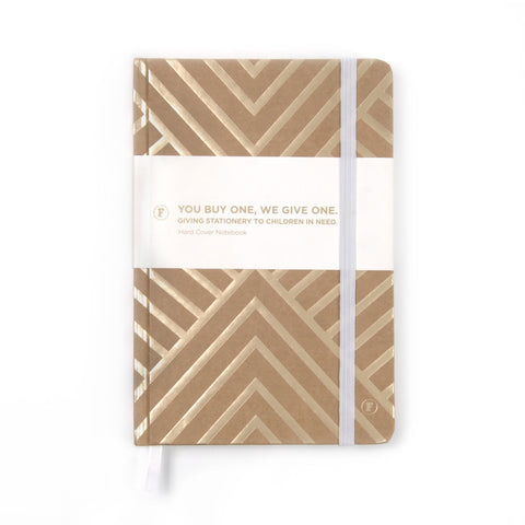 Gold Chevron Journal - Auckland Art Gallery Shop