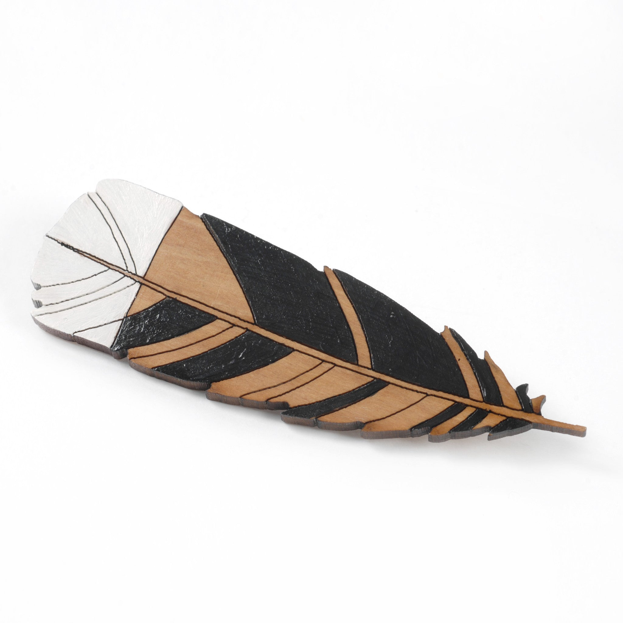 Huia Feather Brooch Image