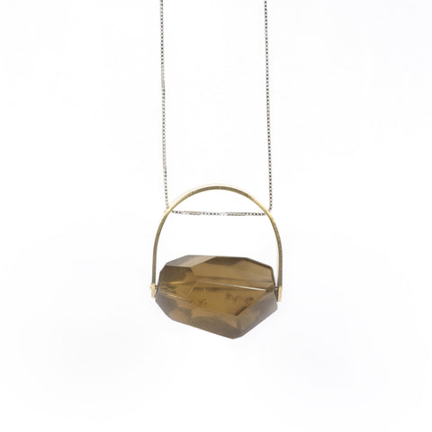 Brass Lemon Citrine Pendant