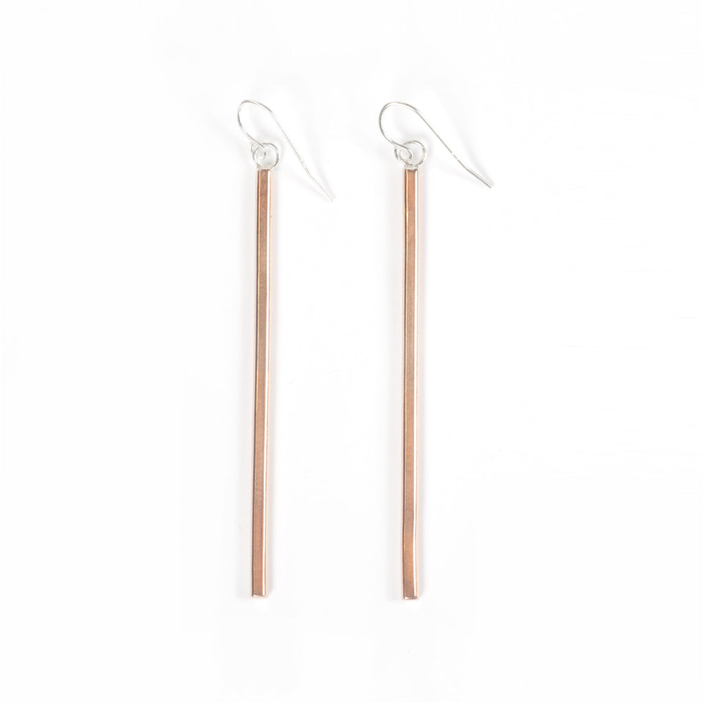 Copper Stick Earrings