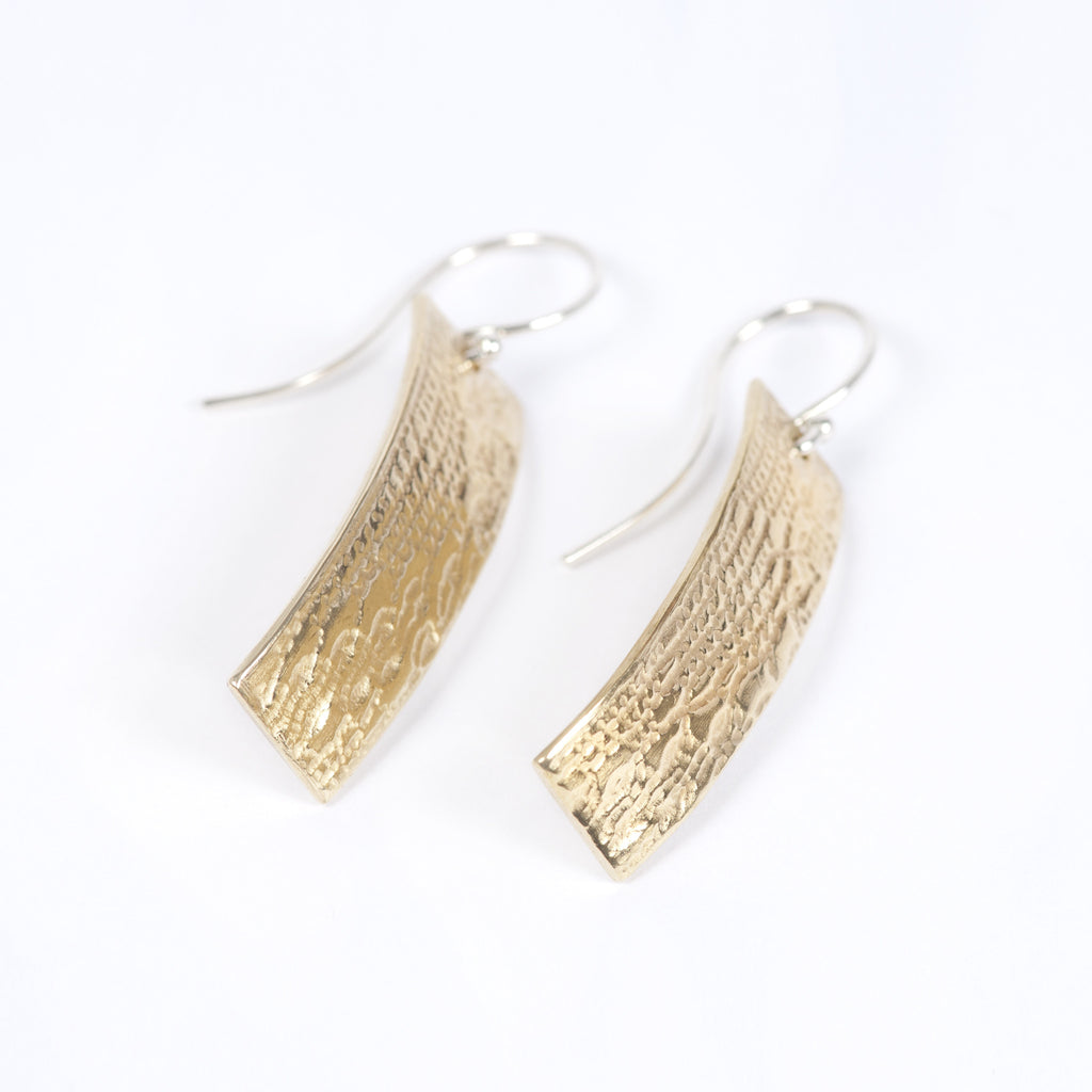 Brass Patterned Earrings