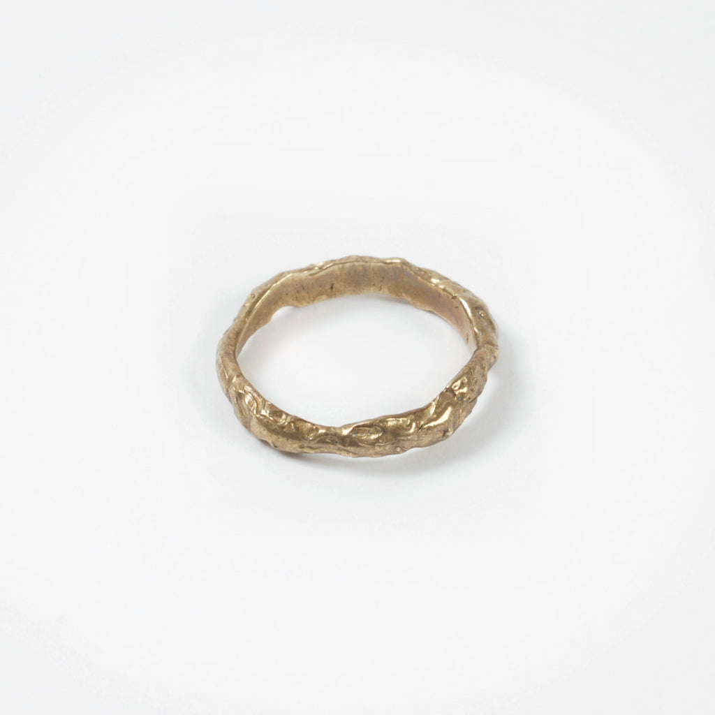 Brass Organic Stacking Ring - Auckland Art Gallery Shop