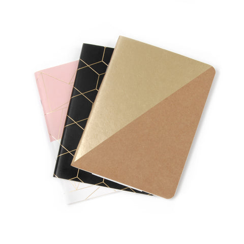 Gold Foil Pocket Books (3 pack)