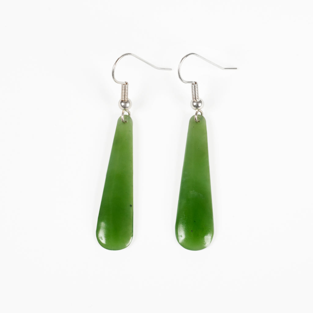 Small Curved Pounamu Earrings