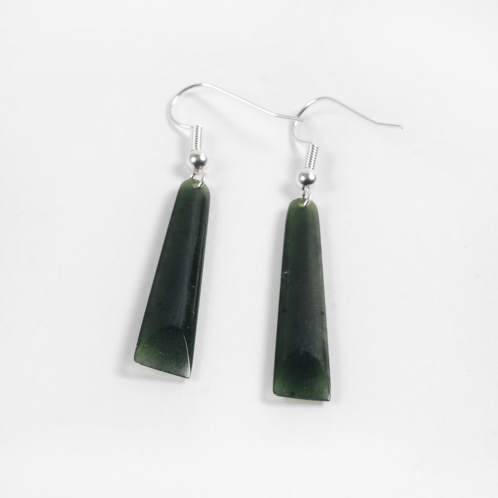 Small Square Pounamu Earrings - Auckland Art Gallery Shop