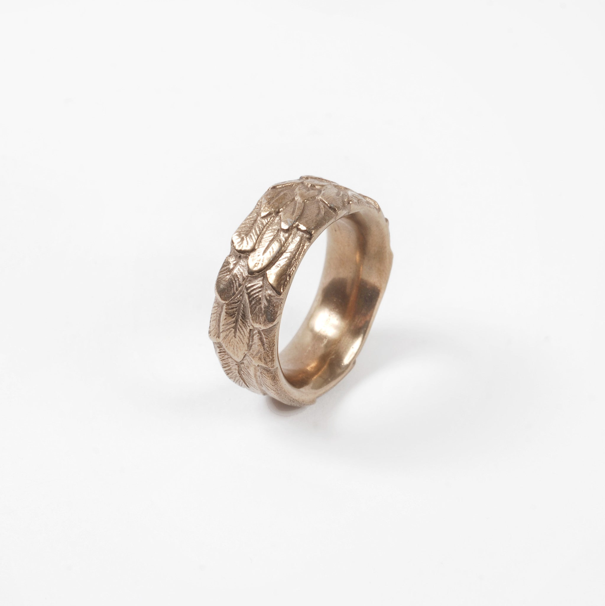 Bronze Feather Ring Image