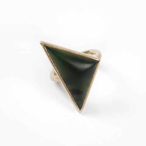 Gold Triangle Pounamu Ring - Auckland Art Gallery Shop