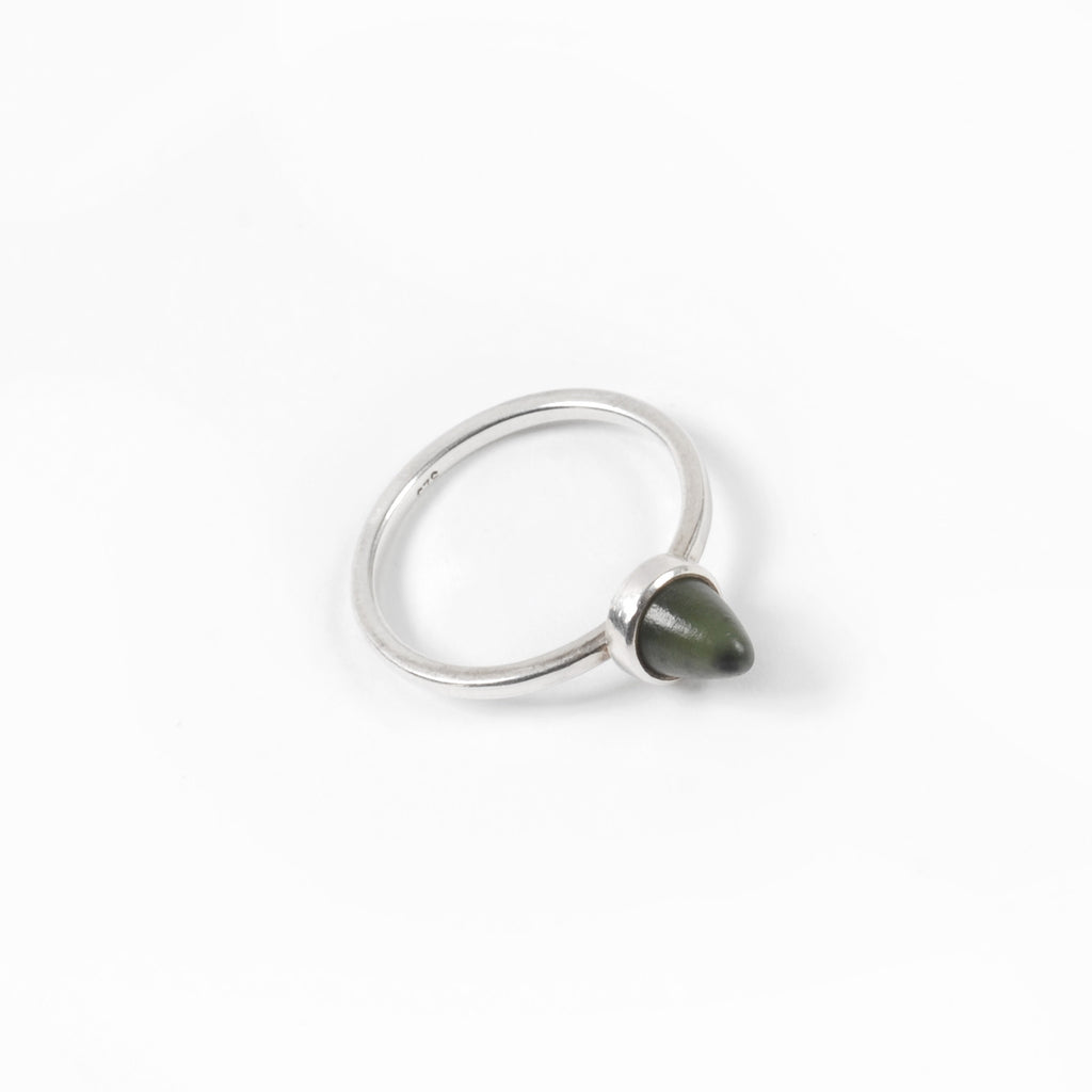 Silver Thorn Pounamu Ring - Auckland Art Gallery Shop