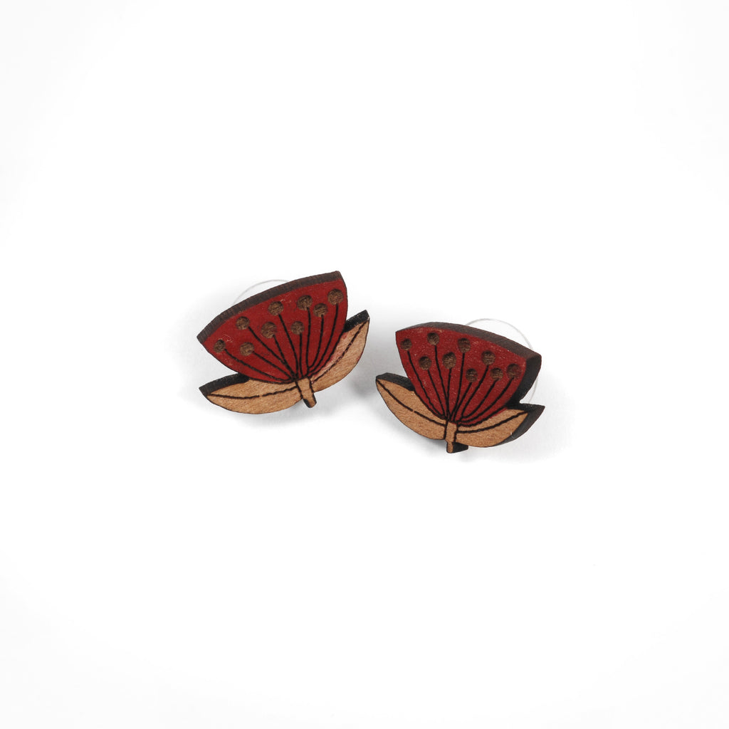 Pōhutukawa Earrings