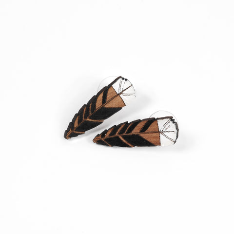 Huia Feather Earrings - Auckland Art Gallery Shop