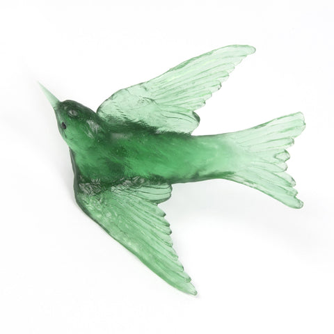 Emerald Swallow Glass Bird