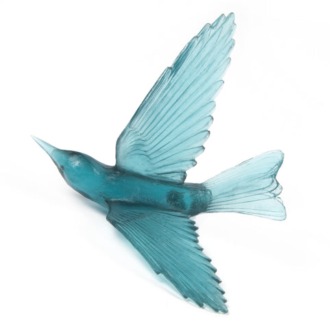 Jade Green Bellbird Glass Bird