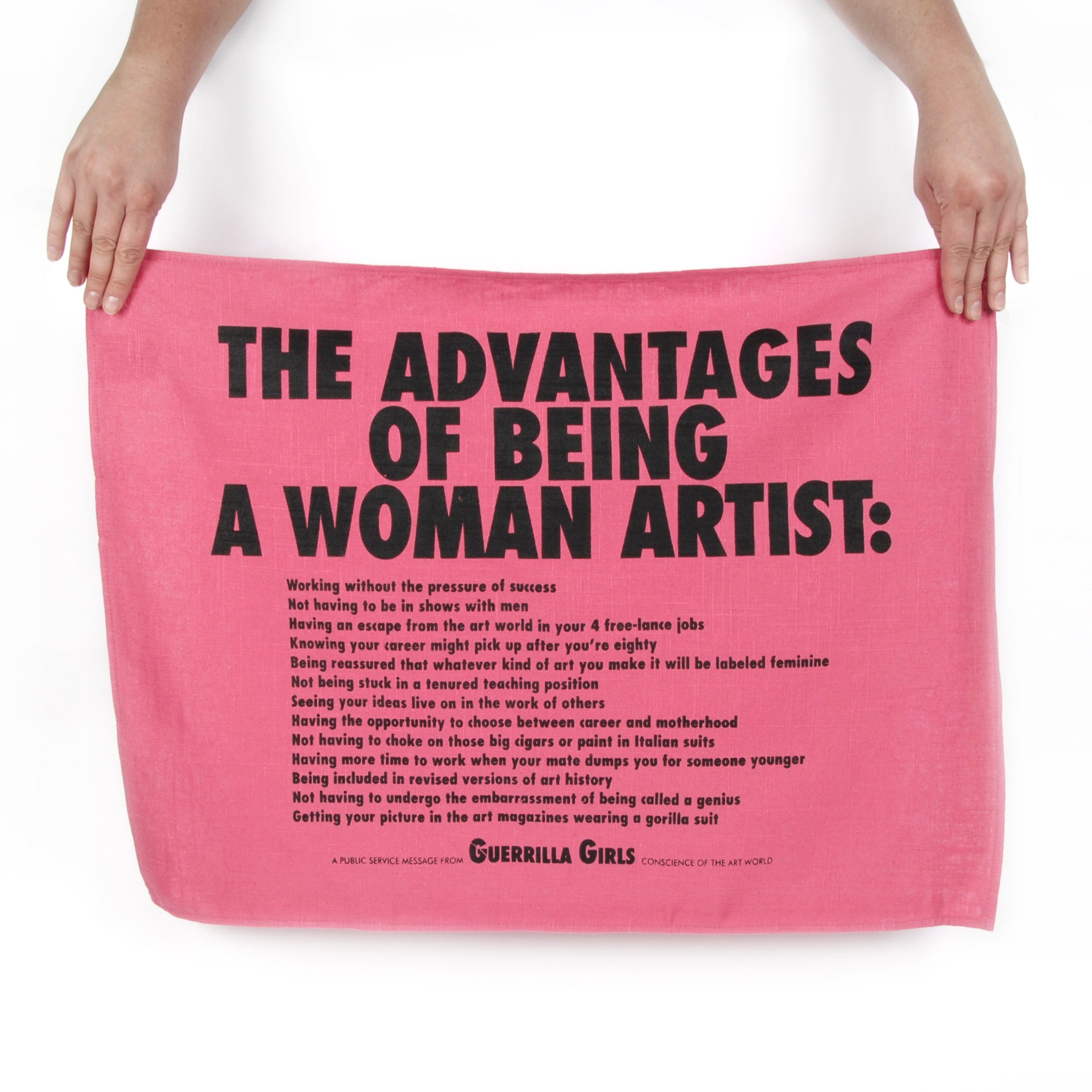 Guerrilla Girls Advantages Tea Towel Image