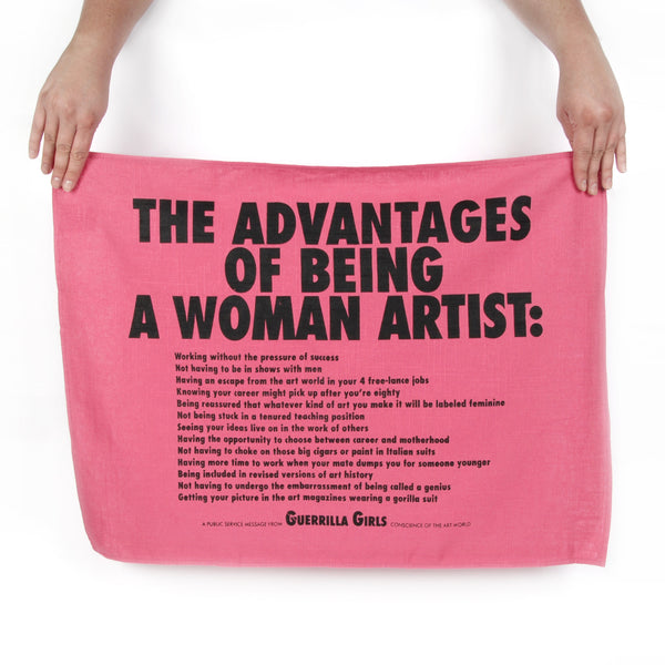Guerrilla Girls Advantages Tea Towel