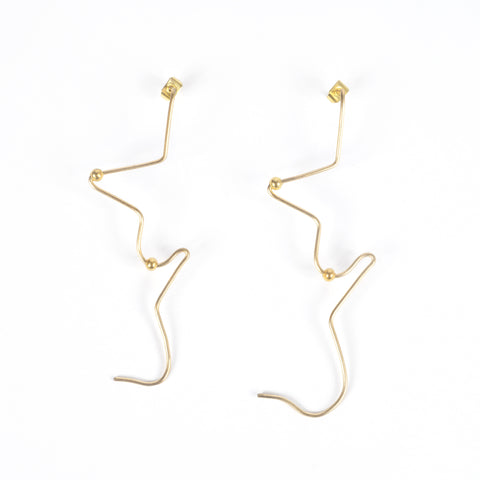 Abstract Nude Earrings