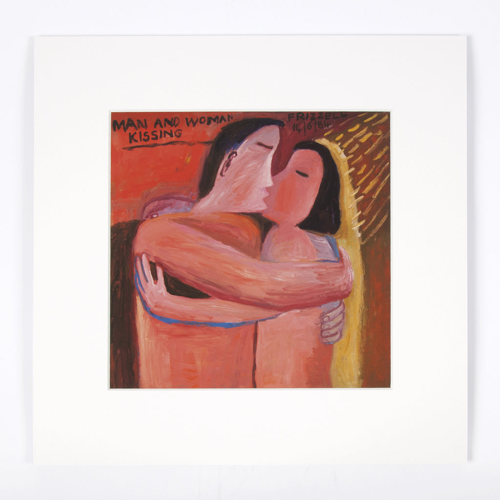 Man and Woman Kissing Print