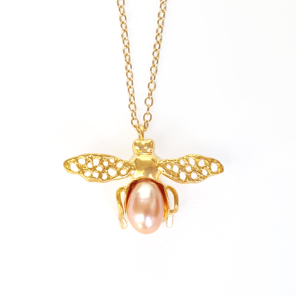 Gold Honeybee Necklace