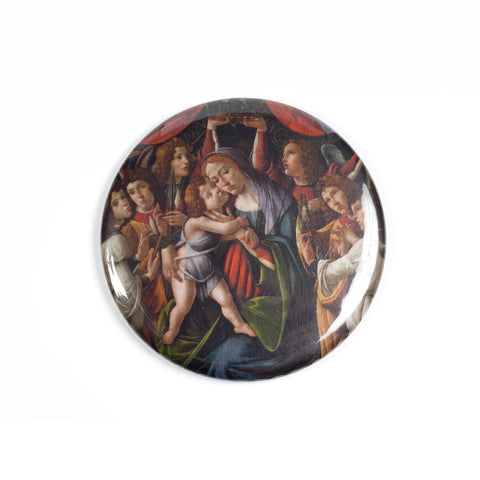 Botticelli 'Madonna and Child' Purse Mirror