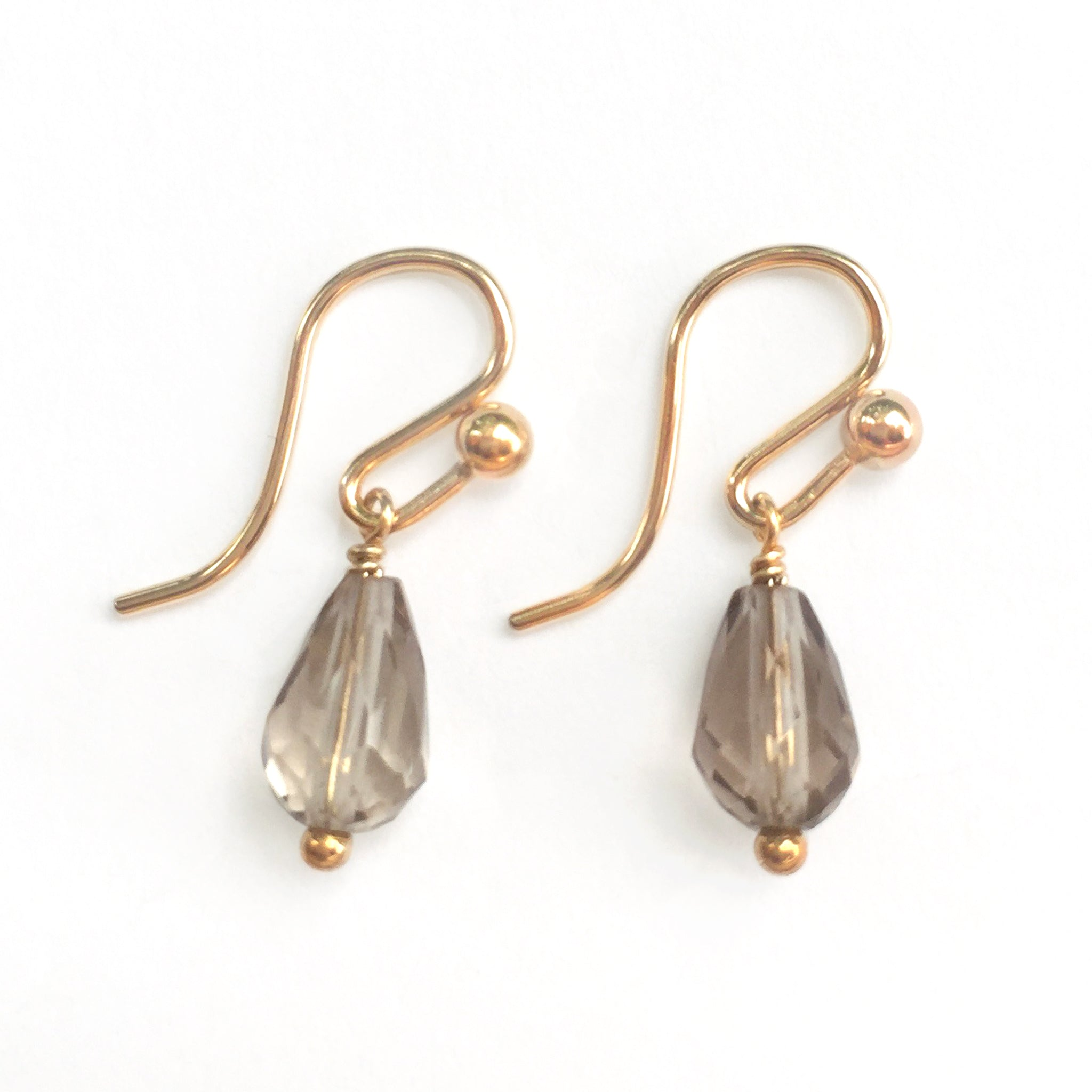 Gem Droplet Gold Earrings Image
