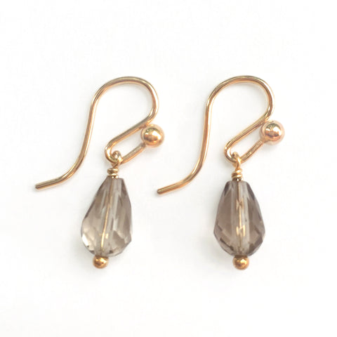 Gem Droplet Gold Earrings