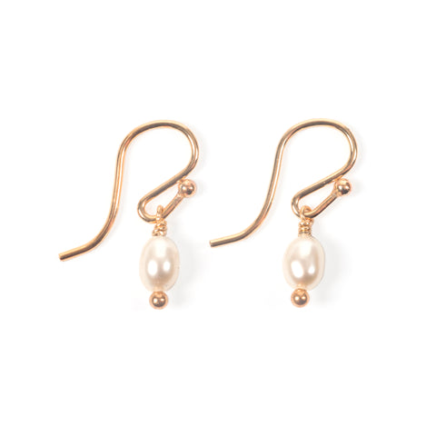 Bebe Pearl Droplet Gold Earrings