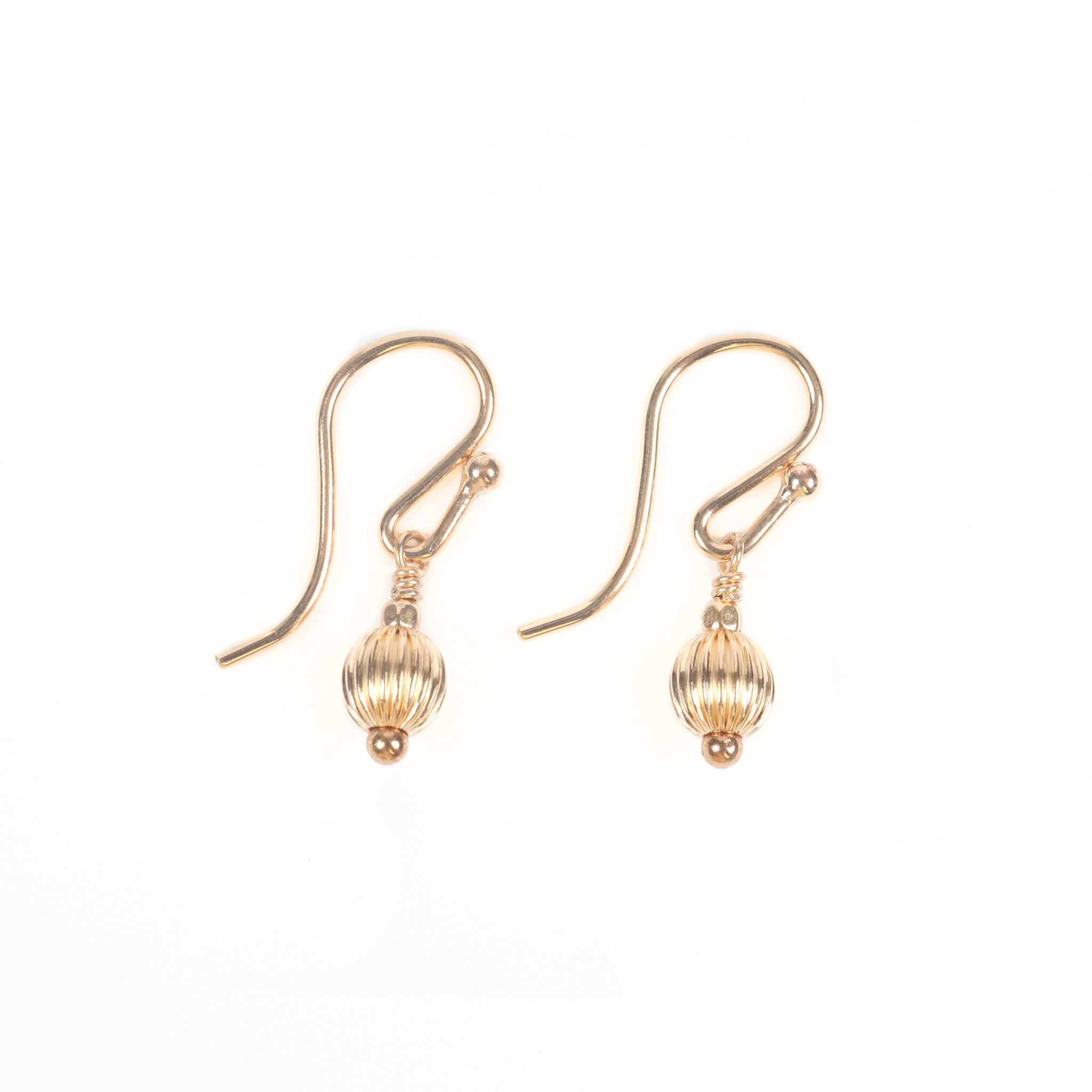 Audrey Droplet Gold Earrings Image