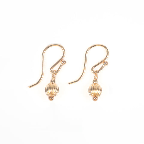 Audrey Droplet Gold Earrings