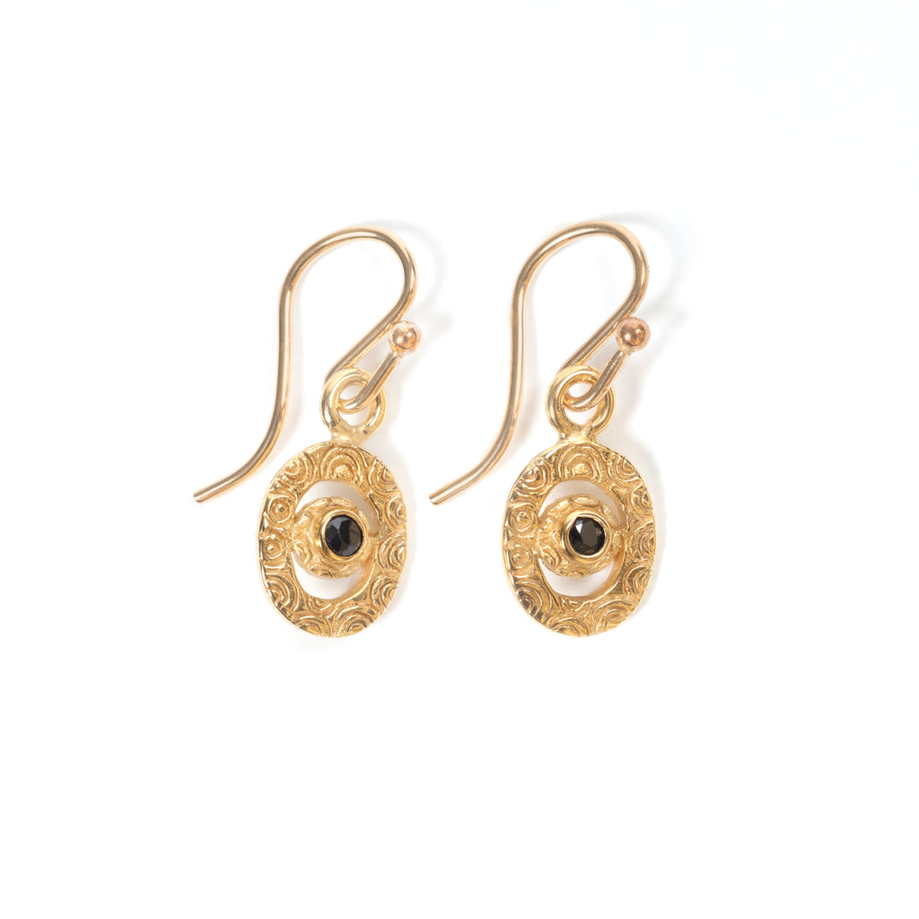 Mini Artemis Gold and Spinel Earrings