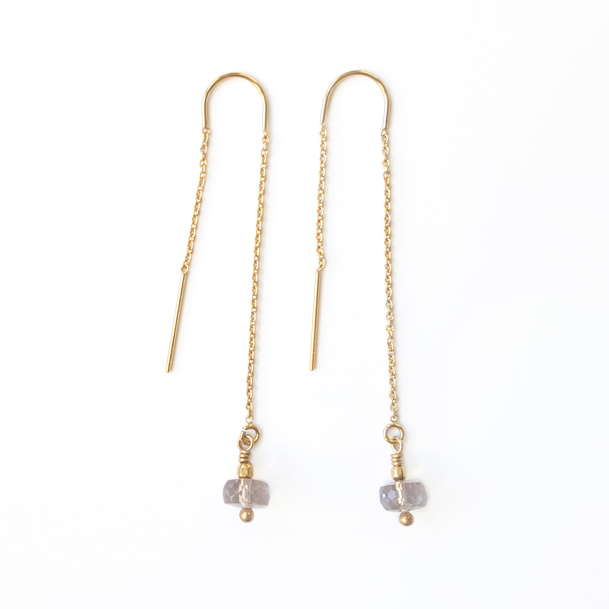 Gold Melba Threader Earrings Image
