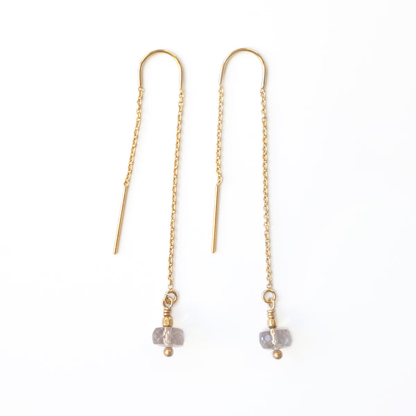 Gold Melba Threader Earrings