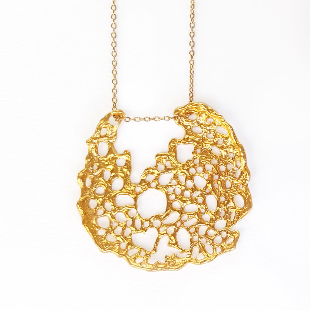Gold Sea Lace Pendant